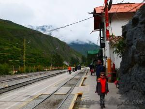 La gare d'Ollantaytambo